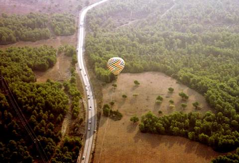 Ballon Landeanflug