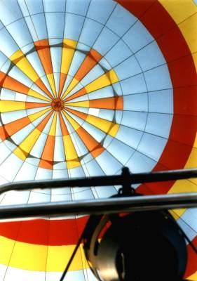 Ballon von unten